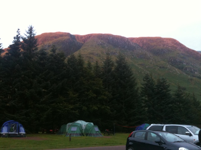 Glen Nevis Caravan and Camping Site, Fort William, Scotland