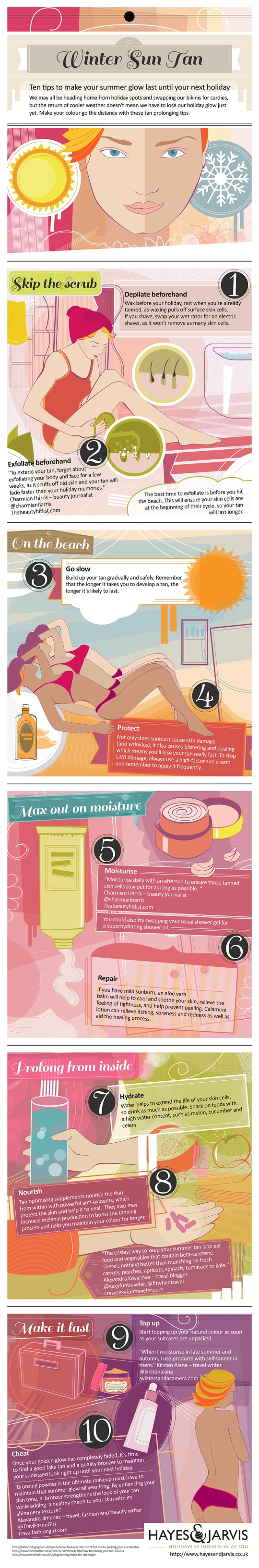 How to make your tan last