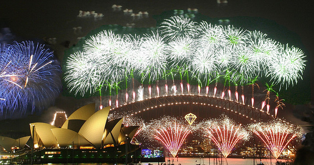 Australia Day celebrations in Sydney Harbour